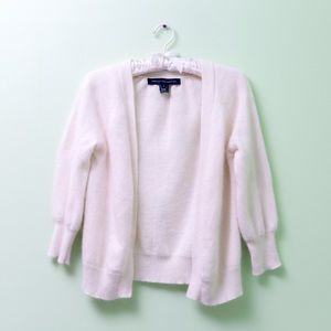 French Connection 3/4 sleeve off white cardigan